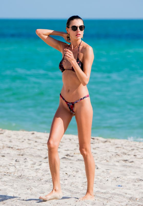 Alina Baikova Hot in Bikini on the Beach in Miami