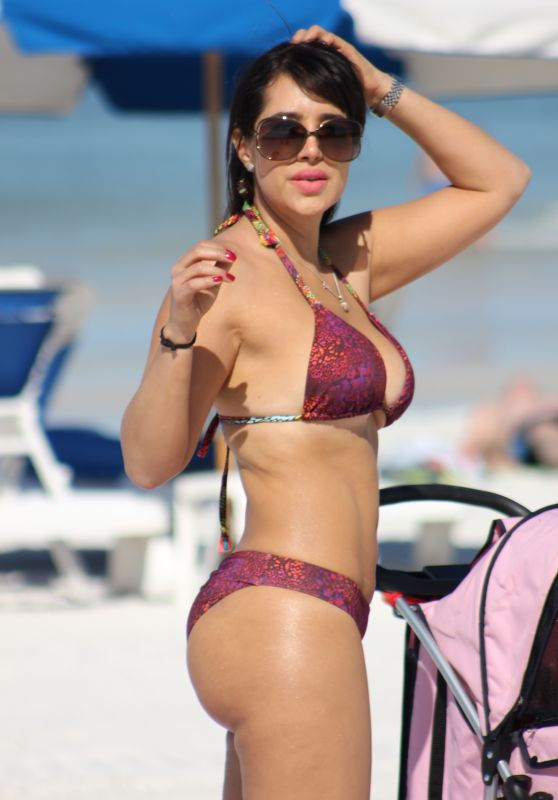 Andrea Calle in Bikini on Miami Beach