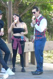 Ariel Winter Enjoys Some Ice Cream - Disneyland in Anaheim 12/09/2017