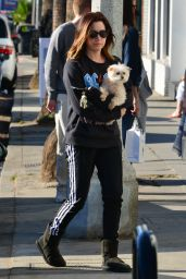 Ashley Tisdale With Her Dog - Venice Beach 12/19/2017
