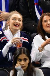 Bella Hadid and Gigi Hadid - Anaheim Ducks v New York Rangers in NYC 12/19/2017