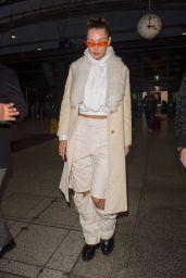 Bella Hadid Style - Leaving Heathrow Airport in London 12/07/2017