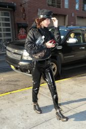 Bella Hadid Urban Street Fashion - Leaving a Building in NYC