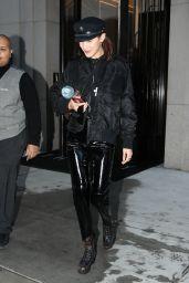 Bella Hadid Urban Street Fashion - Leaving a Building in NYC