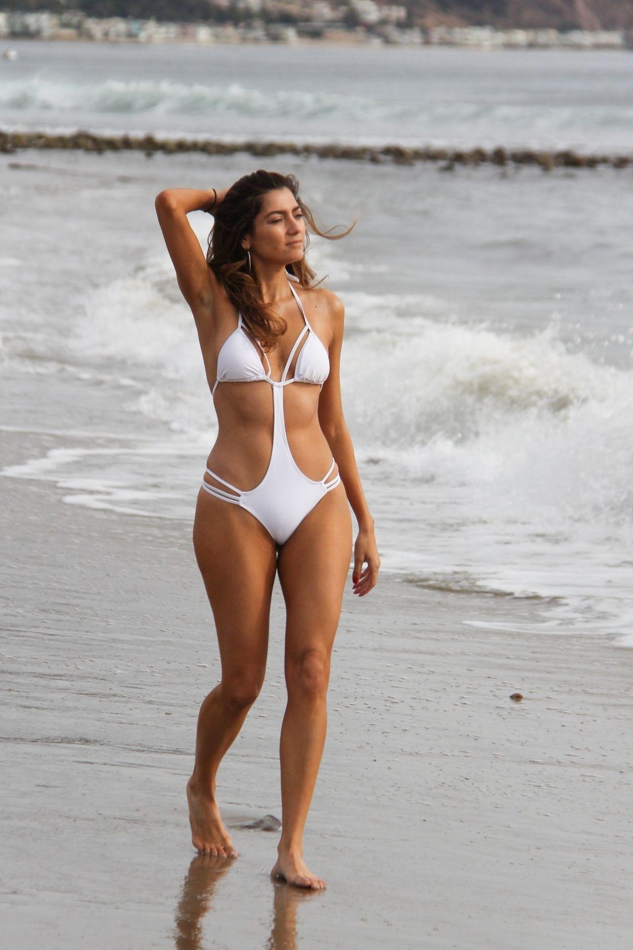 Blanca Blanco In A White One Piece Swimsuit Malibu 12 12