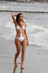 Blanca Blanco in a White One Piece Swimsuit - Malibu 12/12/2017