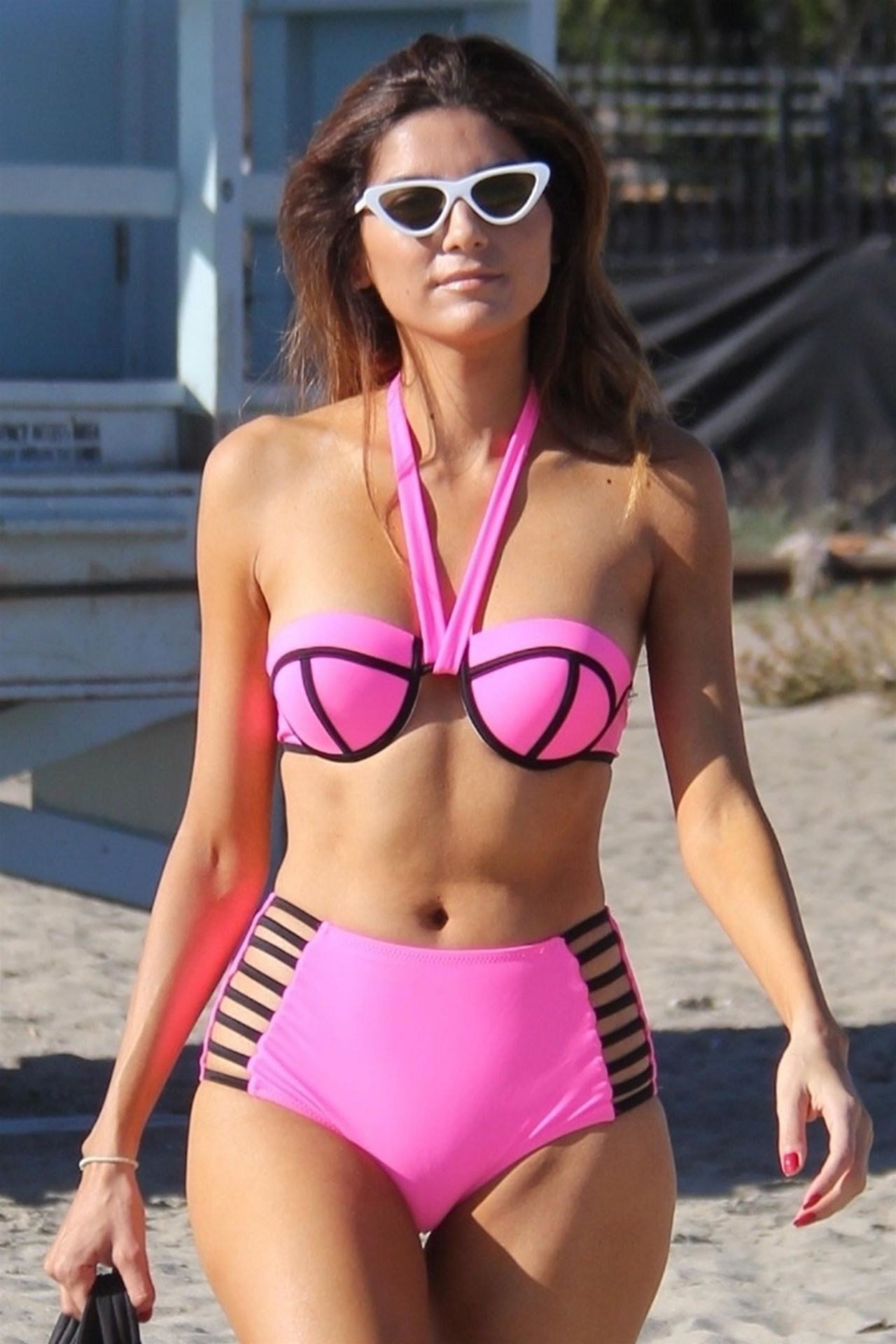 Blanca Blanco in Pink Bikini at the beach in Malibu Pic 31 of 35