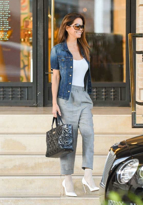 Brooke Burke - Shopping at Barneys in NYC