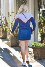 Busy Philipps Leggy in Mini Skirt - Los Angeles 12/12/2017