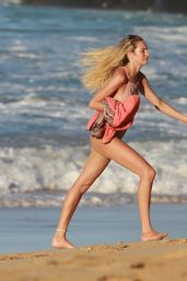 Candice Swanepoel in Swimsuit on the Beach of the Island of Fernando De Noronha, Brazil