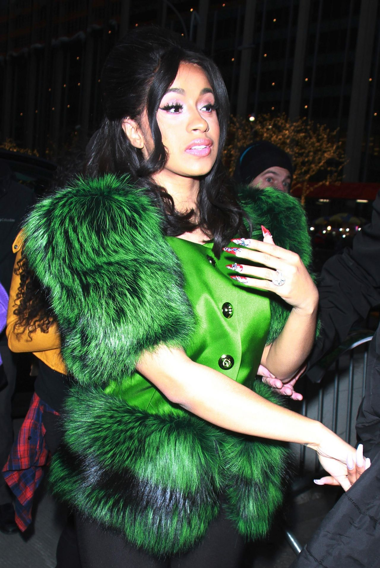 Cardi B Arriving to Appear on Tonight Show Starring Jimmy Fallon in NYC