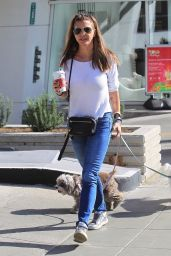 Charisma Carpenter With Her Dogs in Beverly Hills 12/18/2017