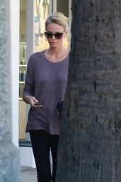 Charlize Theron Leaves the Spa in Studio City