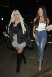 Charlotte Crosby and Holly Hagan Night Out - Menagerie Bar and Restaurant in Manchester