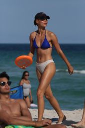 Chase Carter in Bikini Play Games and Go for a Swim in Miami