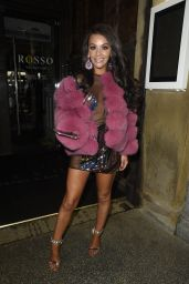 Chelsee Healey Night Out in Manchester