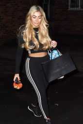 Chloe Ferry - Leaving Dreamgirlz Hair Extension Boutique in Newcastle
