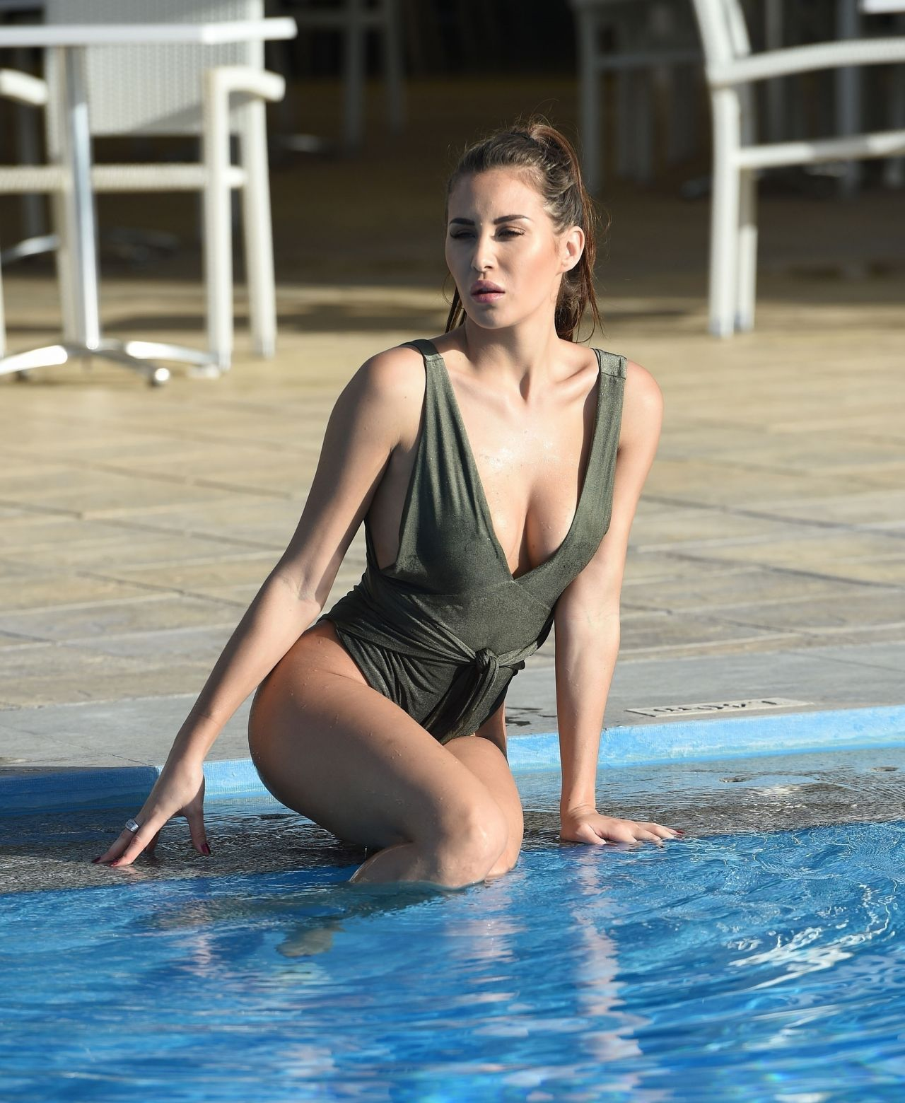Chloe Goodman in Swimsuit on a Christmas Break in Malta