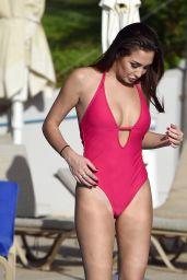 Chloe Goodman in Swimsuit on a Holiday in Malta