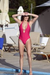 Chloe Goodman in Swimsuit on a Holiday in Malta