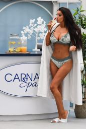 Chloe Khan Bikini Photoshoot - Carnatic Spa in Liverpool 12/19/2017