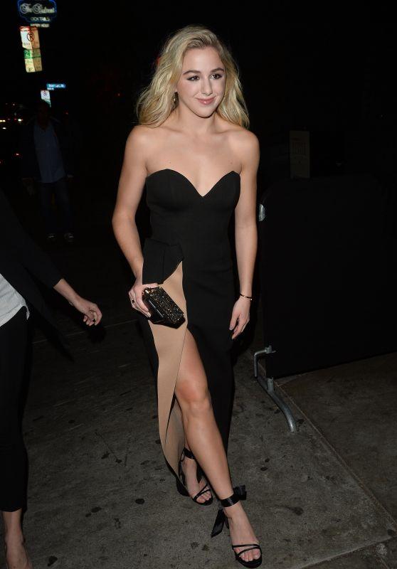 Chloe Lukasiak - Arriving at Poppy in Los Angeles 11/30/2017