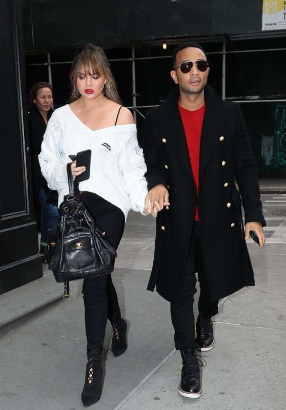 Chrissy Teigen and John Legend - Out in NYC 12/15/2017