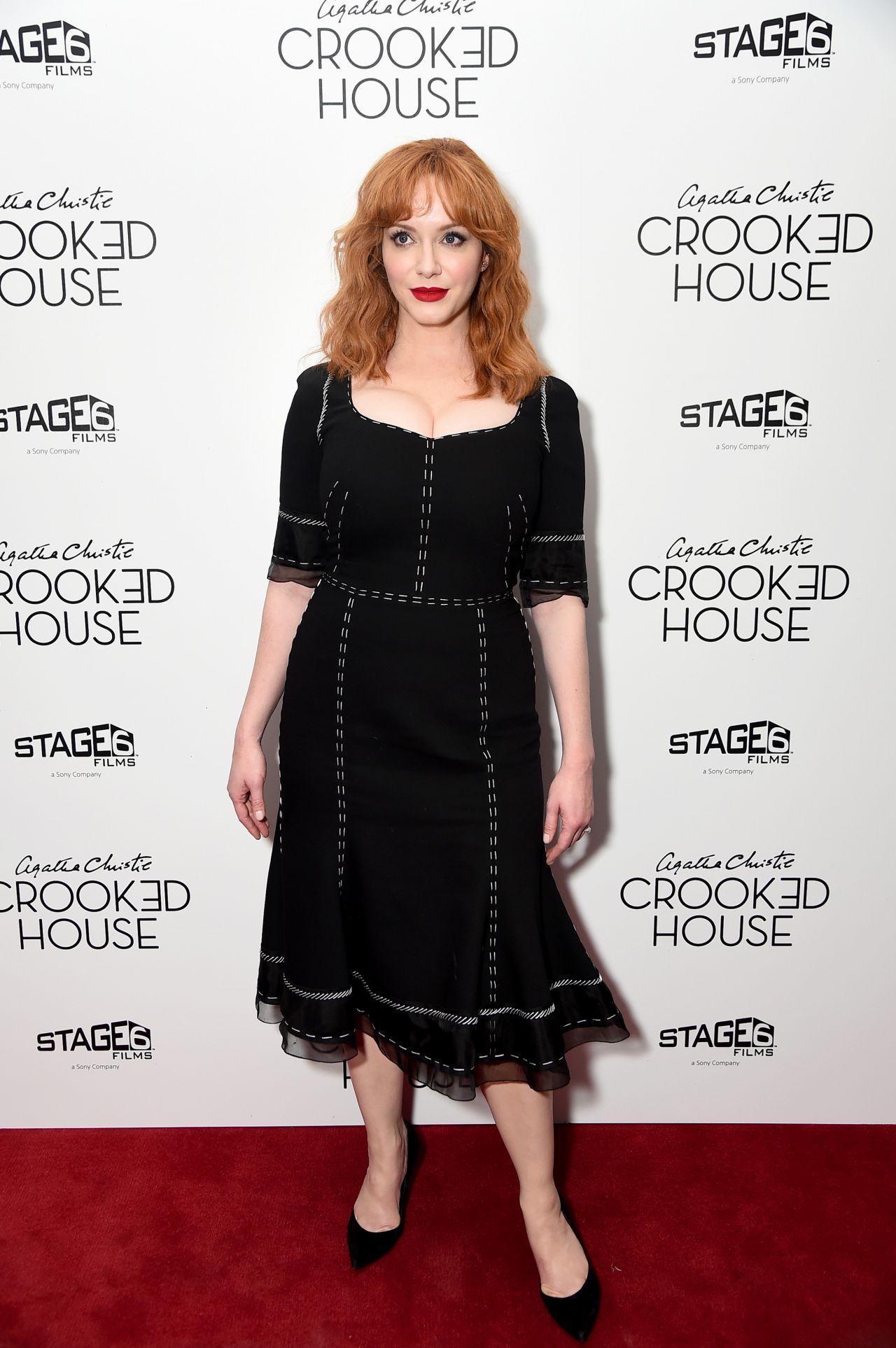Christina Hendricks Crooked House Premiere At