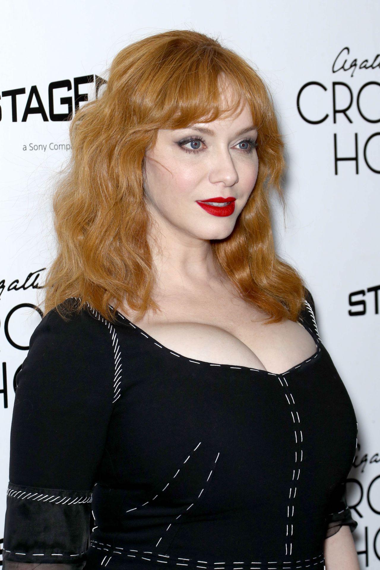 "Christina Hendricks – ""Crooked House"" Premiere at ..."