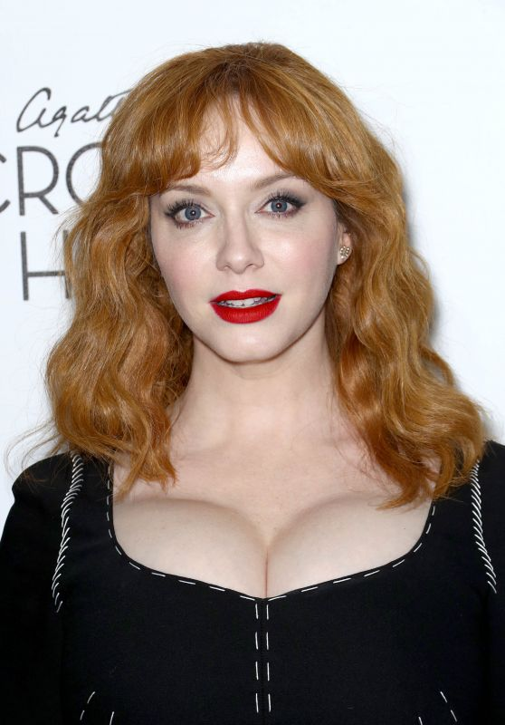 """Christina Hendricks – """"Crooked House"""" Premiere at Metrograph in NYC"""