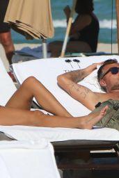 Constanza Caracciolo in Bikini at the Beach in Miami 12/05/2017