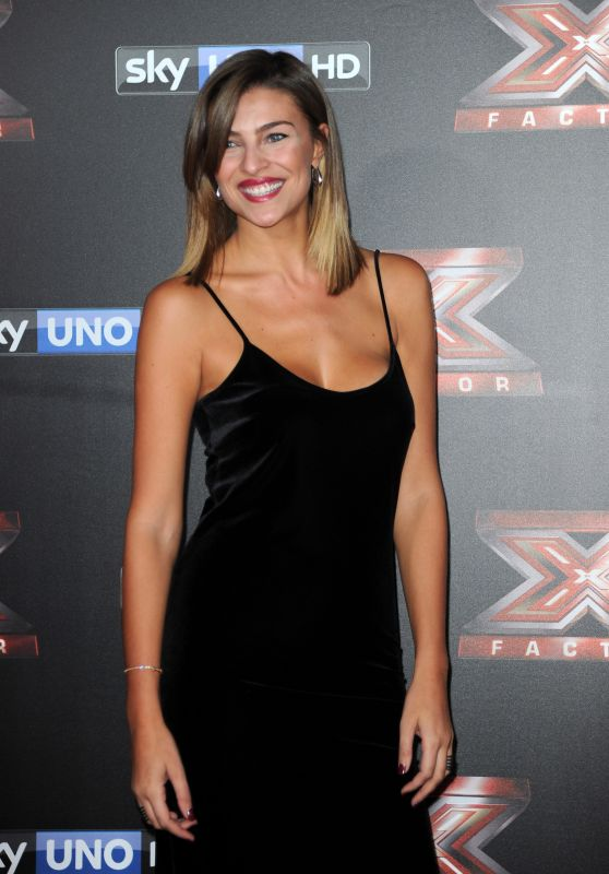 Cristina Chiabotto – Italian X-Factor Final Stage Red Carpet in Milan 12/15/2017