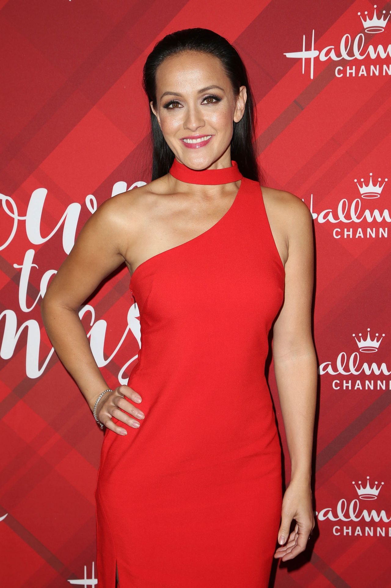 Crystal Lowe Christmas At Holly Lodge Screening In Los