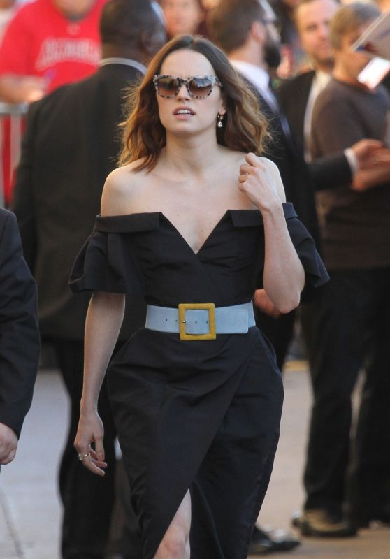 Daisy Ridley Arriving to Appear on Jimmy Kimmel Live! in NYC