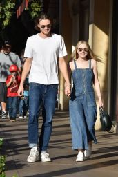 Dakota Fanning and Boyfriend Jamie Strachan Out in LA