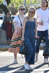 Dakota Fanning and Boyfriend Jamie Strachan Out in LA