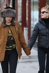 Dakota Johnson and Her Mom Melanie Griffith in Aspen