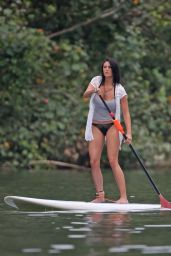 Darcie Lincoln Paddle Boarding in Hawaii