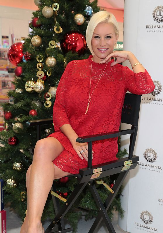 Denise Van Outen Promote Bellamianta Luxury Tan Christmas Sets in Dublin 11/30/2017