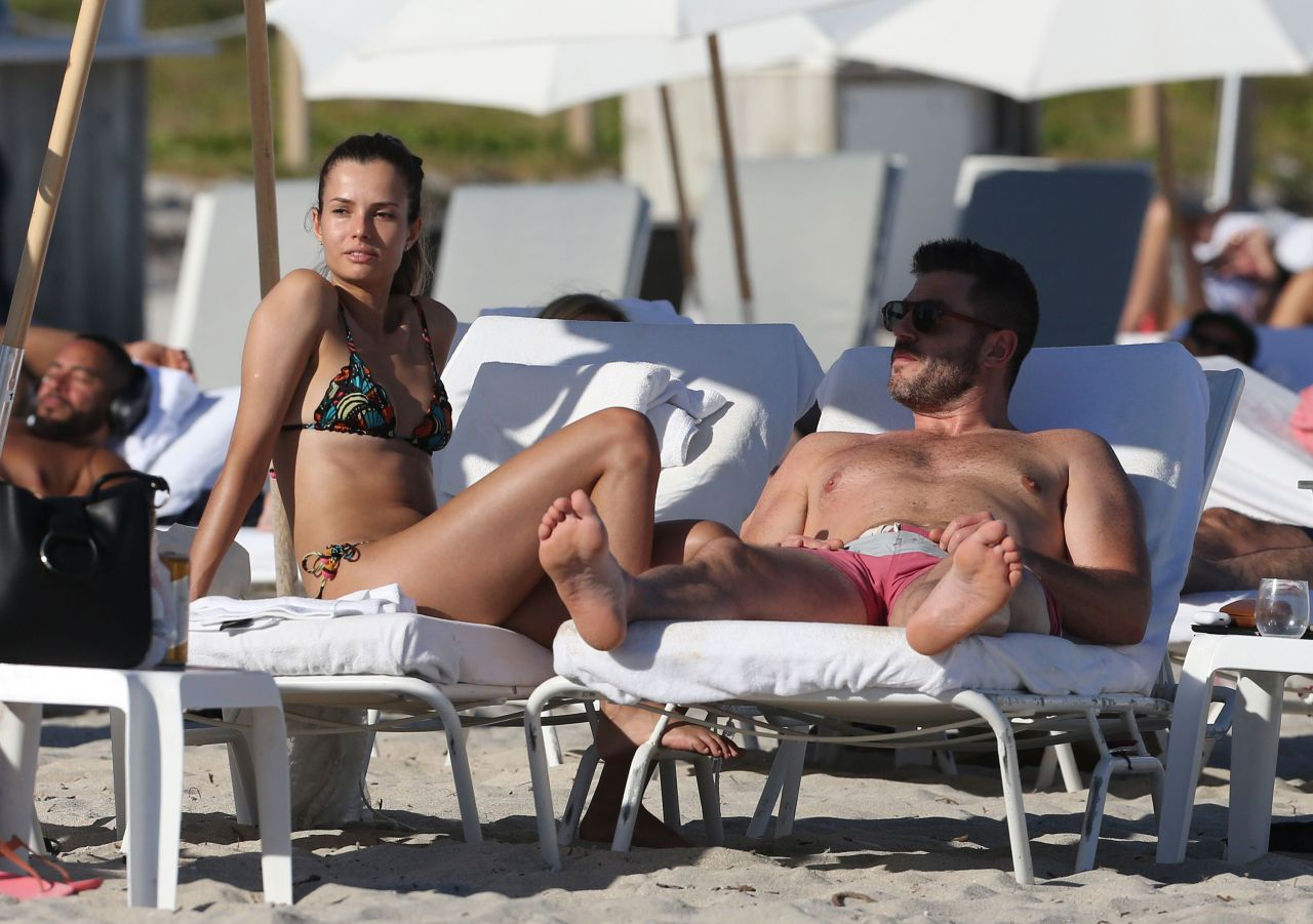 Emely Fardo on the Beach in Miami 12/15/2017