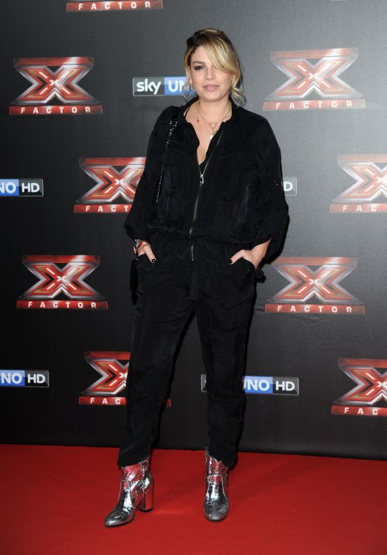 Emma Marrone – Italian X-Factor Final Stage Red Carpet in Milan 12/15/2017