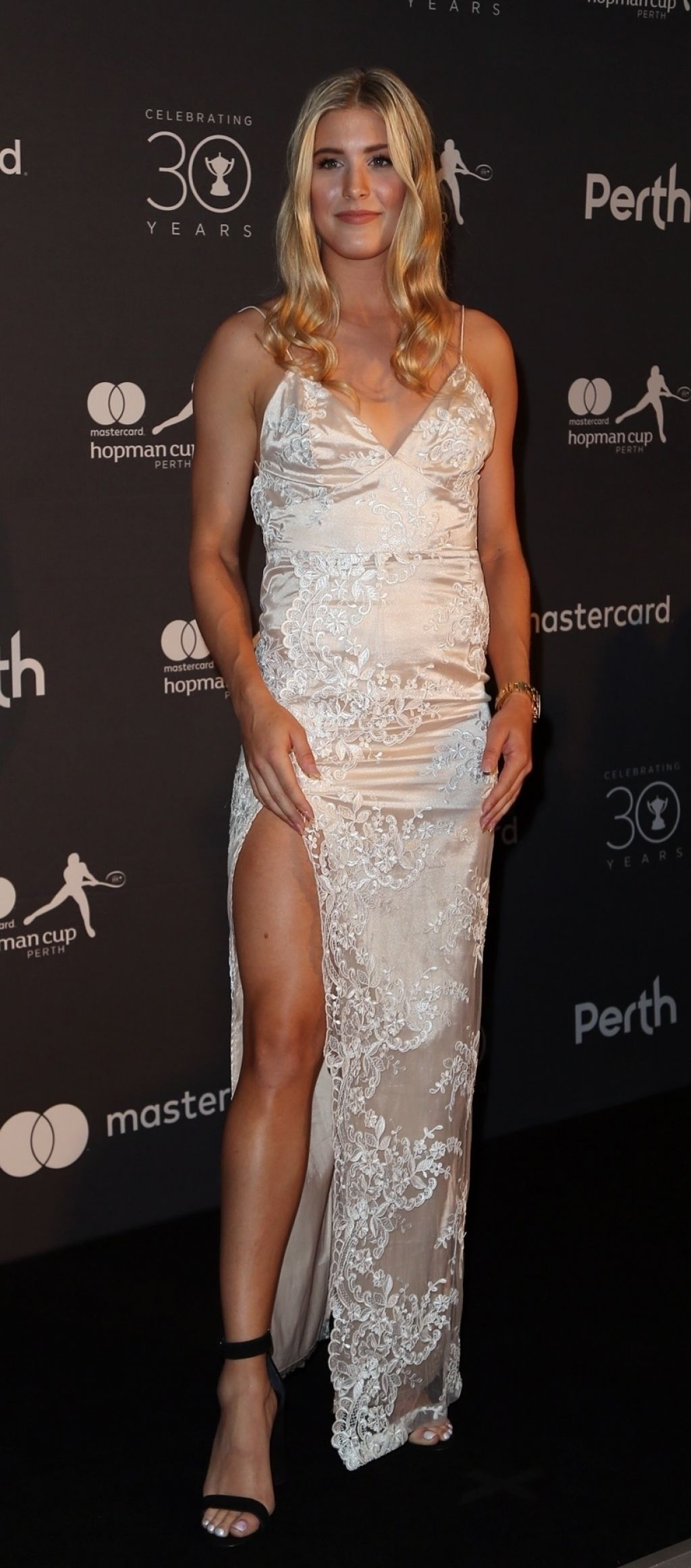 Eugenie Bouchard At Hopman Cup New Years Eve Players Ball