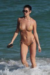 Francesca Bambilla and Livia Canallis - Show Off Their Bikini Bodies on the Beach in Miami 12/08/2017