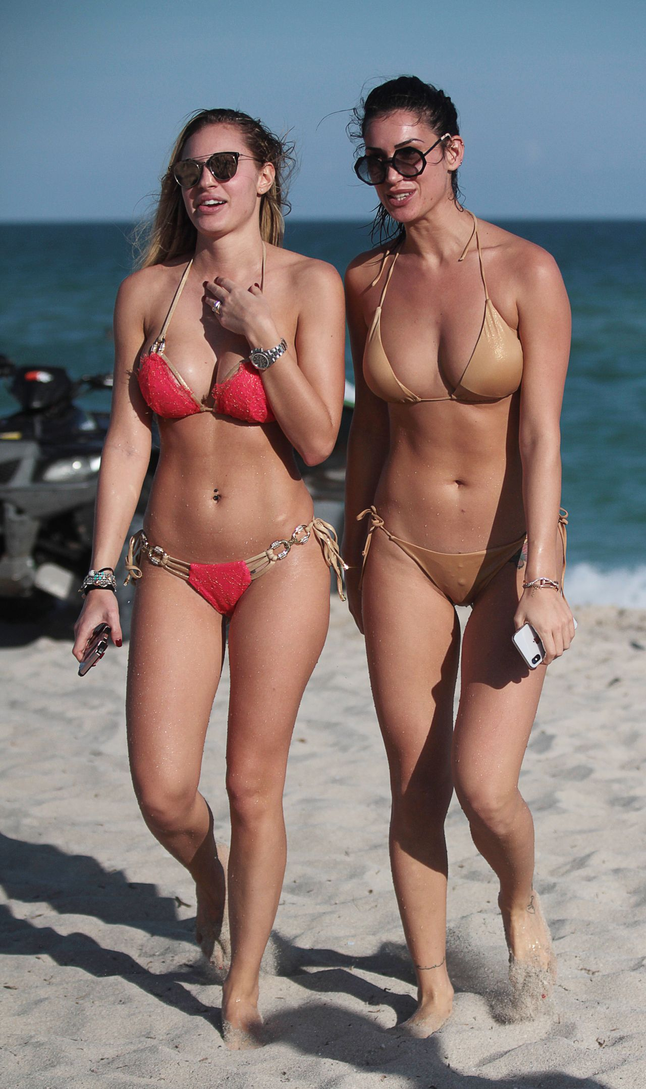 Livia Canalis and Francesca Brambilla in Bikini in Miami Beach