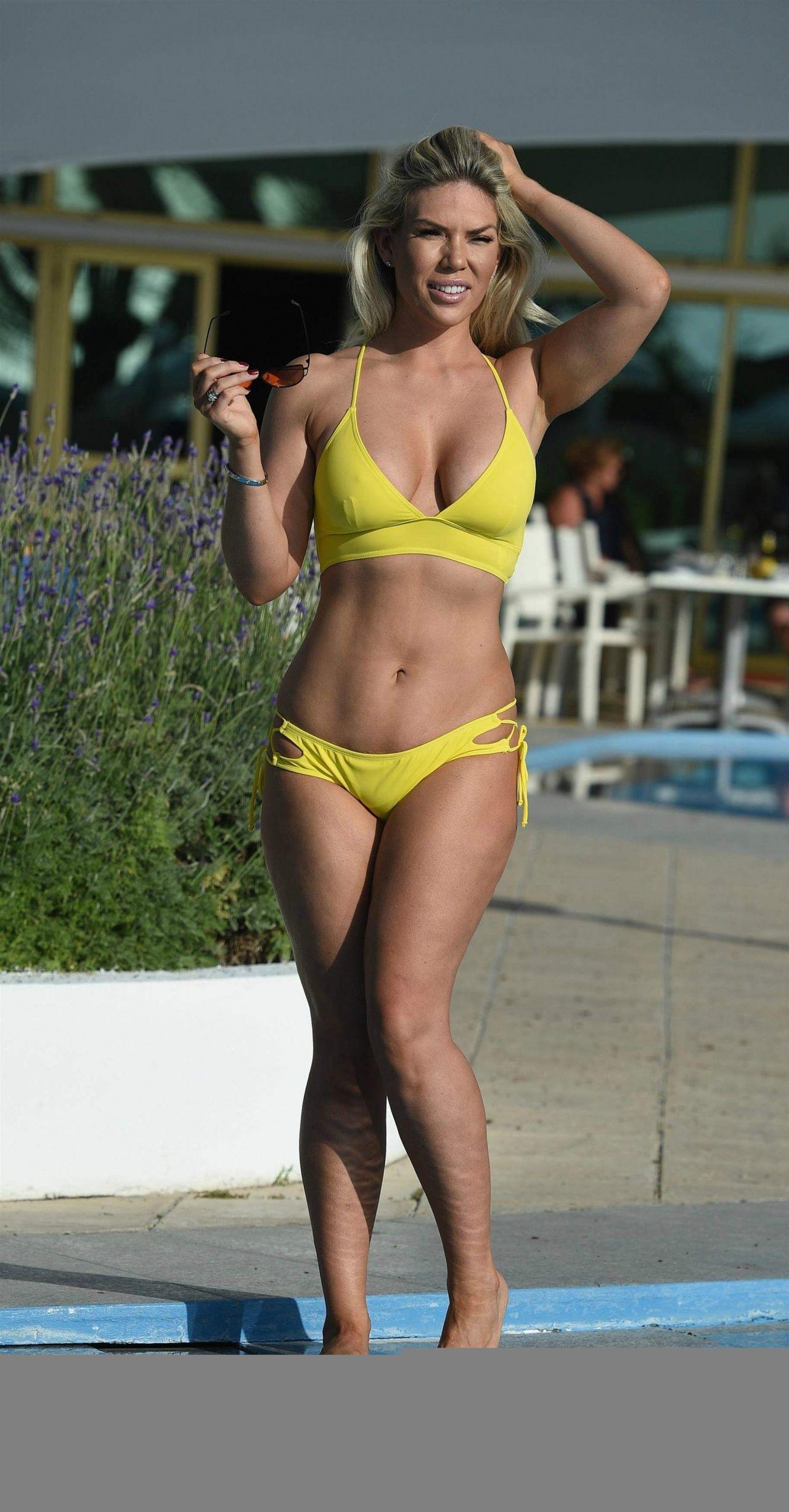 Frankie Essex in Yellow Bikini in Cape Verde