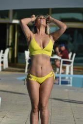 Frankie Essex in a Yellow Bikini - Winter holiday in Cape Verde
