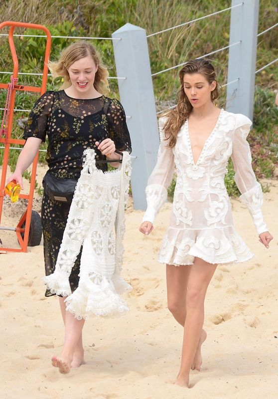 Georgia Fowler & Victoria Lee - Photoshoot at Maroubra Beach in Sydney 10/22/2017