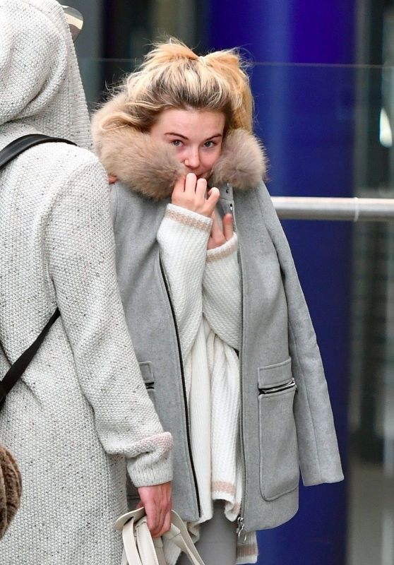 Georgia Toffolo at London Heathrow