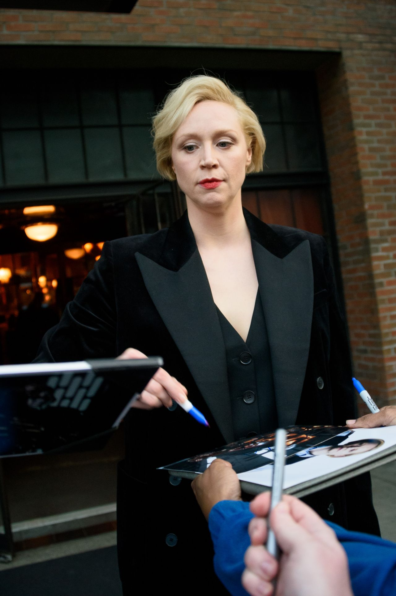 Gwendoline Christie Leaves Her Hotel In The East Village