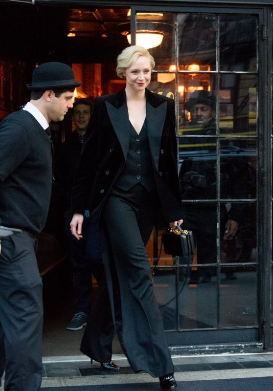 Gwendoline Christie - Leaves Her Hotel in the East Village in NYC 12/04/2017